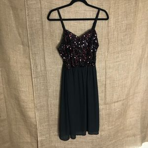 Torrid Sequin Dress 1 1X Party Red Black Gown